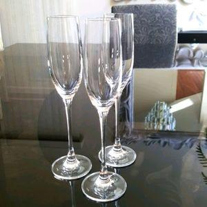 """LENOX 10"""" 3 champagne flutes 8oz. Glasses"""